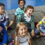 Happy kids at elementary school